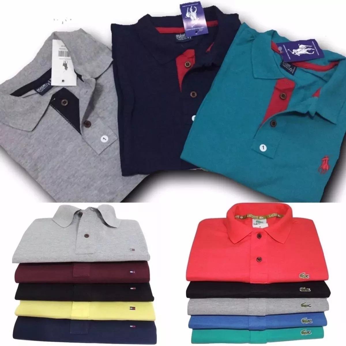 8ff255a68d kit c 10 camisas polo masculinas plus size g1 g2 g3 oferta. Carregando zoom.