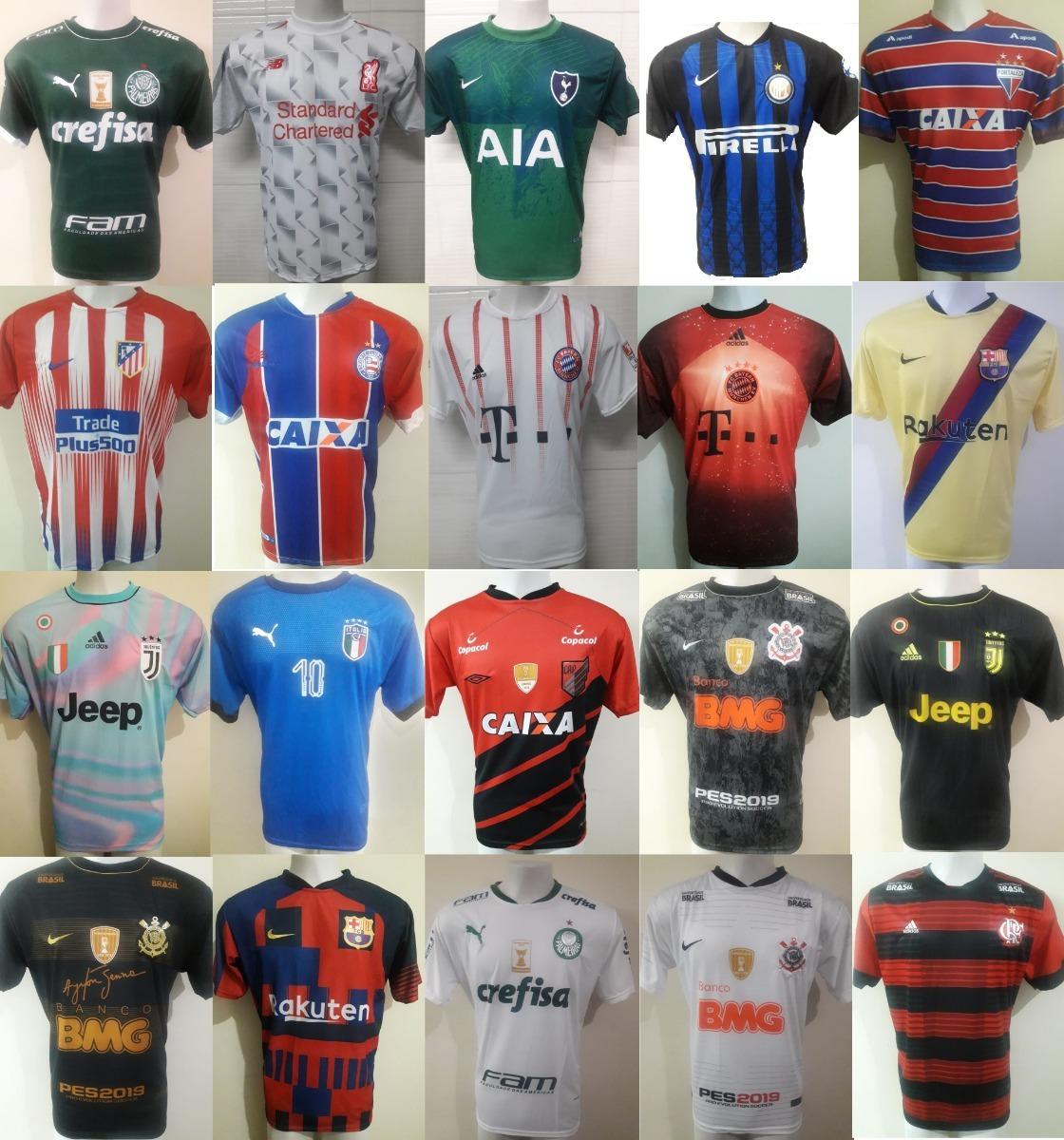 a47de29921 Kit C 10 Camiseta De Futebol Atacado Revenda Frete Grátis - R  198 ...