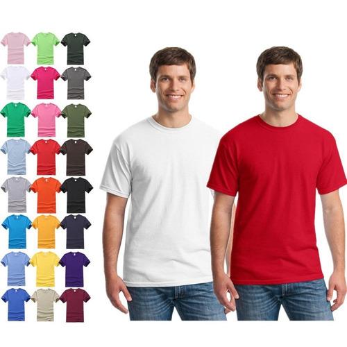 kit c/10 camisetas básica lisa várias cores camisa masculina