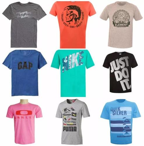 kit c/10 camisetas camisas de varias marcas envio rápido