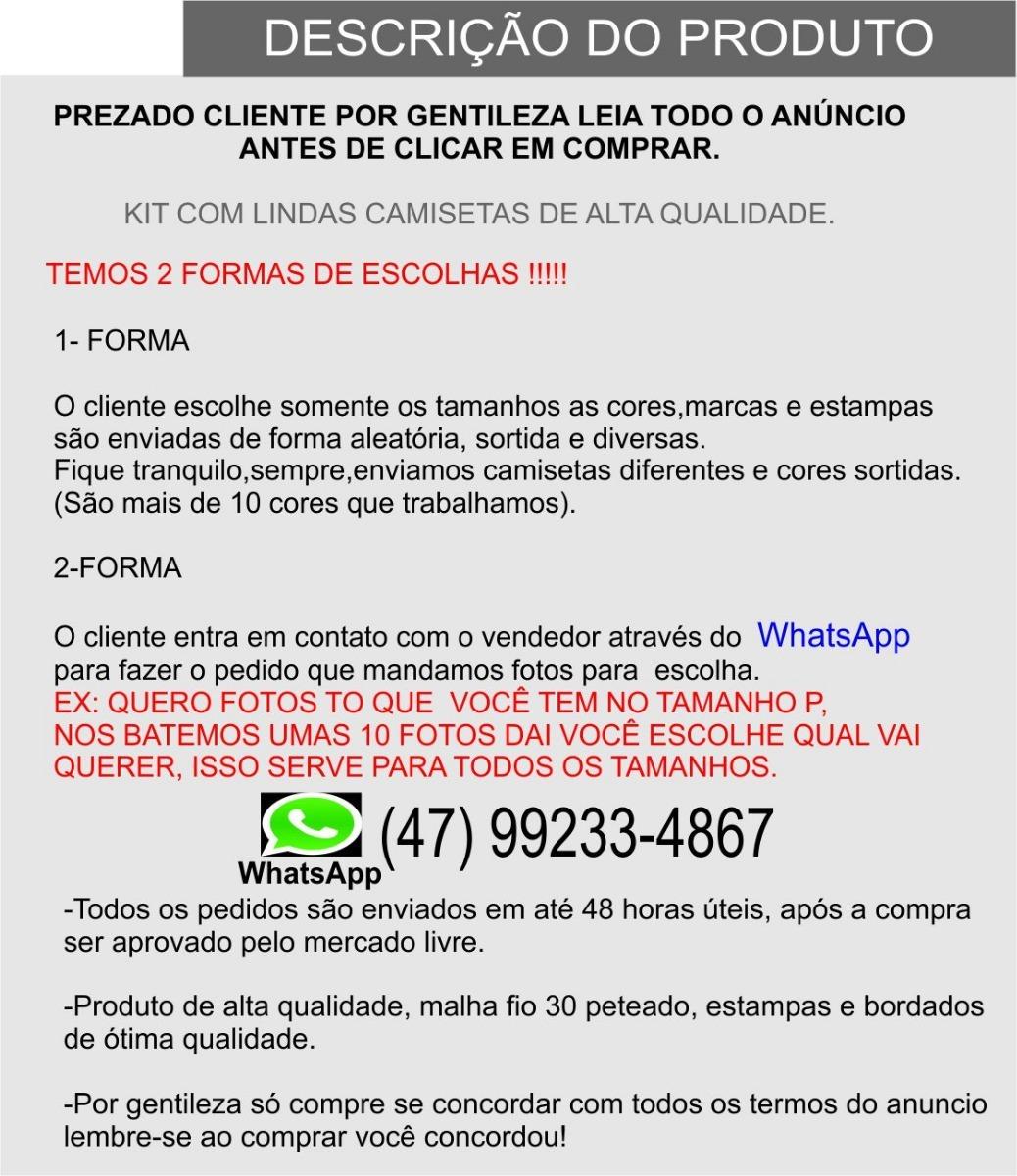 Kit C 10 Camisetas Mas Diversas Marcas Tamanhos G1 G2 G3 - R  229,90 ... 318626e7c8
