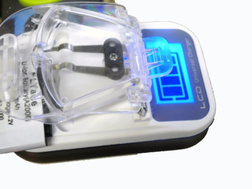 *kit c/10* carregador universal* lcd*digital para* bateria