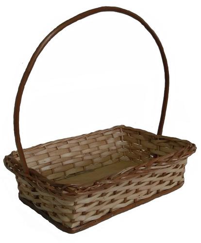 kit c/10 cesta de vime pascoa café manhã ref.1126 30x21x07