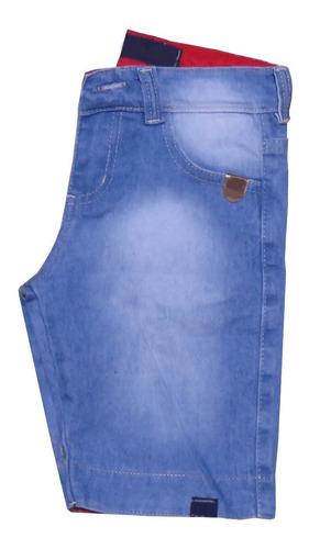 kit c10  conjuntos masculino menino camiseta e bermuda jeans