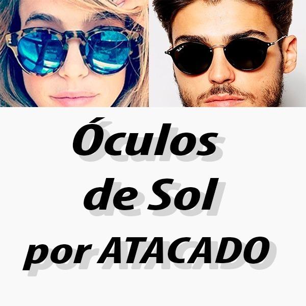 fae598ee5b171 Kit C 10 Óculos De Sol Masculino Atacado Para Revender Top - R  120 ...