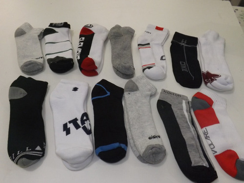 kit c/10 pares de meias cano curto