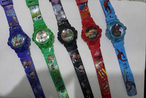 kit c/10 relógios  infantil digital personagens atacado lote