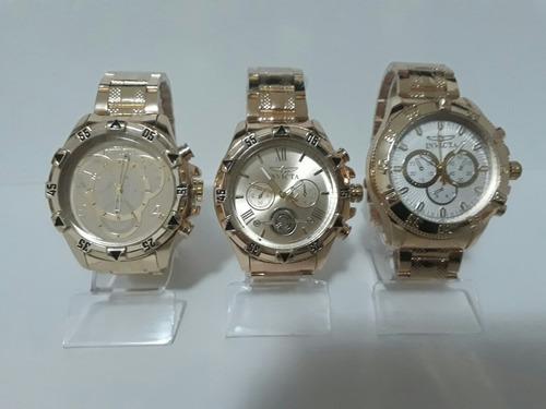 9852edf77e8 Kit C 10 Relógios Masculino+ Caixa S  Logo Qualidade Revenda - R ...