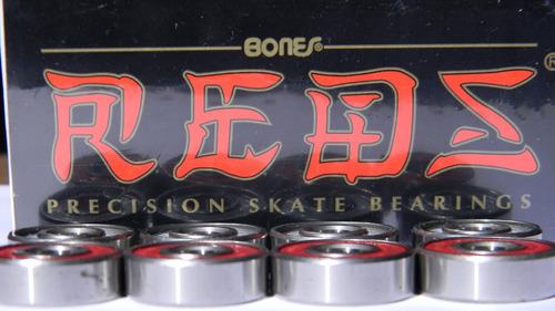 kit c/10 rolamento reds bones curitiba skate longboard
