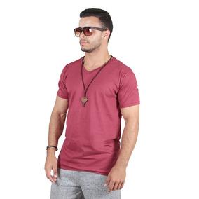 3b67b45088 Kit C 5 Un Camisa Blusa Camiseta Masculina Decote V Basica