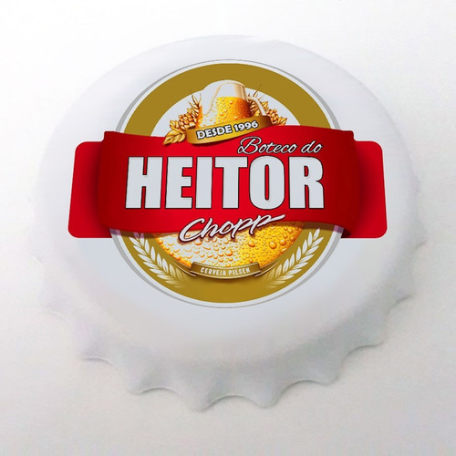 kit c/100 abridores garrafas personalizado forma tampa imã