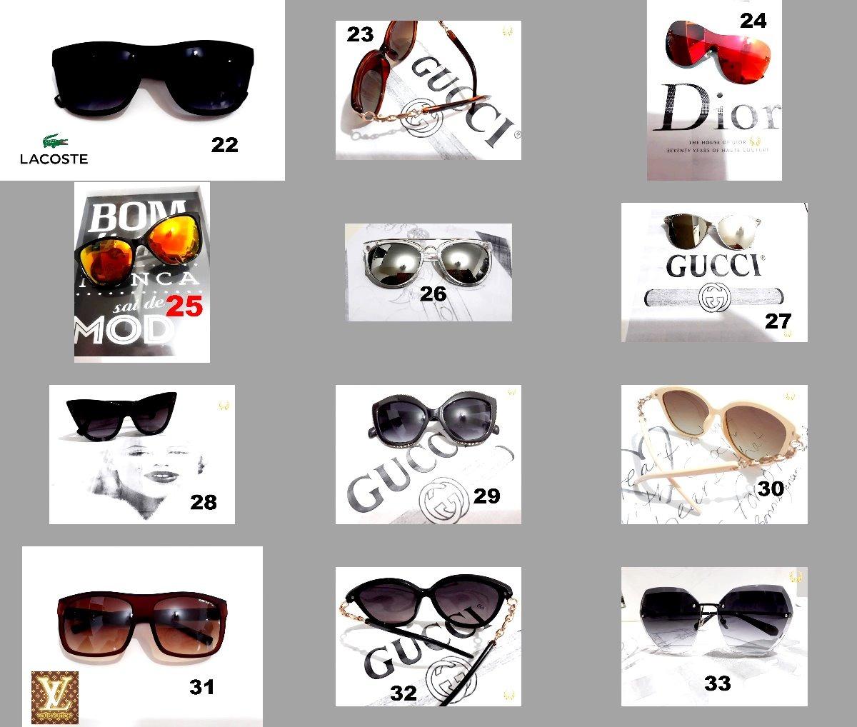 455d3f255d16c Kit C 15 Marcas Famosas Óculos +70 Mod.pde Escolher Atacado - R  223 ...