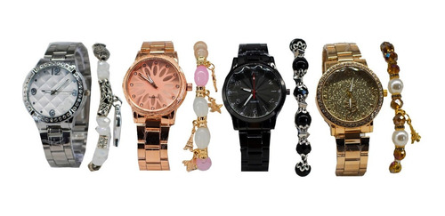 kit c/15 relógios feminino pulseira atacado+ caixas + bateri