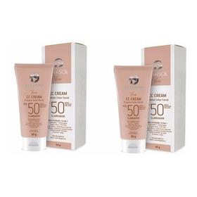Kit C/2 Anasol Protetor Base Cc Cream Fps50 Clareador