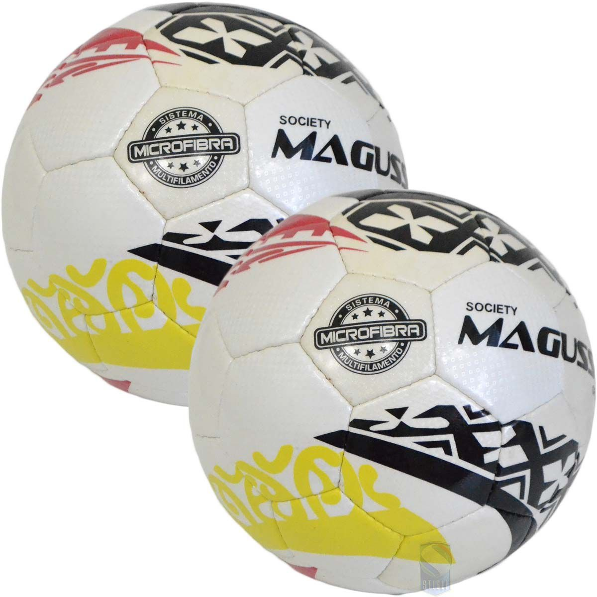 9f4f14adfa936 Kit C 2 Bolas Magussy Microfibra Ofc Elite Futebol 7 Society