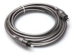 kit c/2 cabos óptico digital toslink robusto 1 metro - hosa
