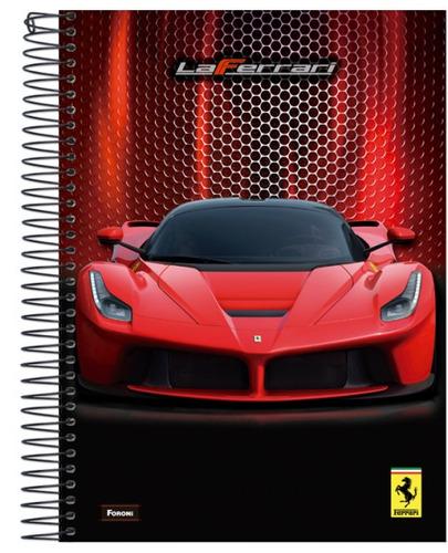 kit c/2 cadernos 1 matéria ferrari gt 2016 c/96 fls - foroni
