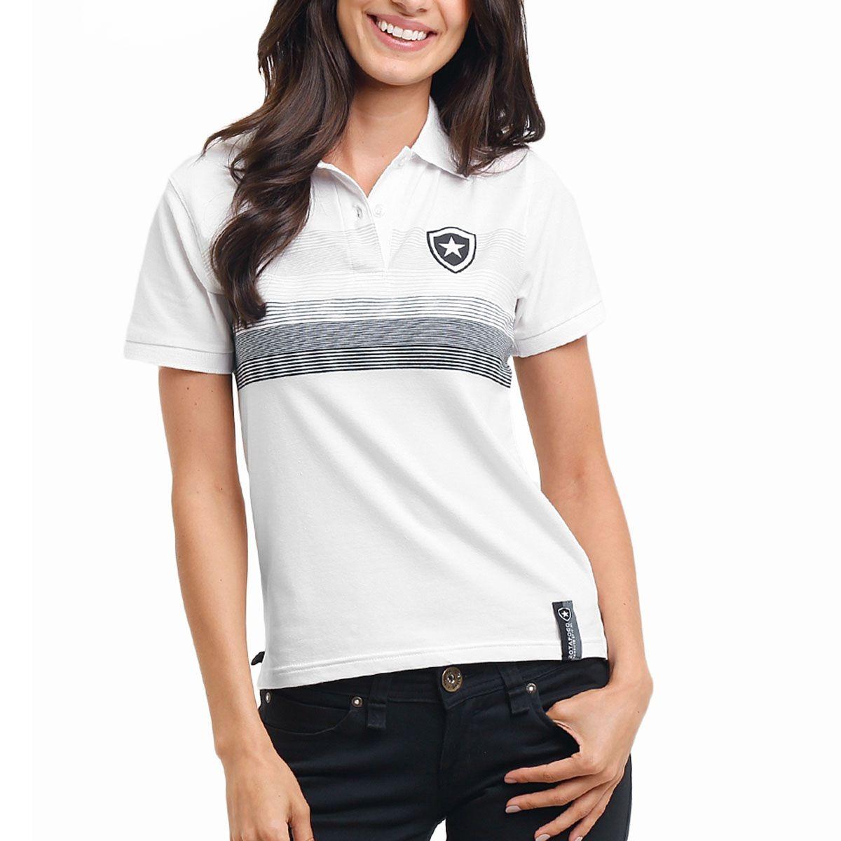 5e1952f366 kit c 2 camisas polo botafogo feminino oficial fio tinto+ nf. Carregando  zoom.