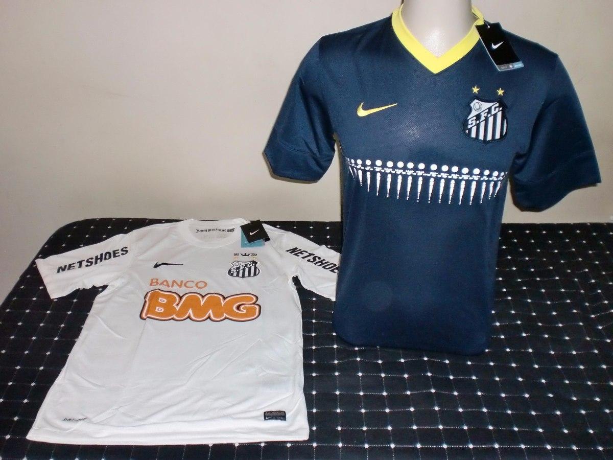 c43cc03e3a Kit C 2 Camisas Santos Nike Branca  Orla Azul Tamanho P Nova - R ...