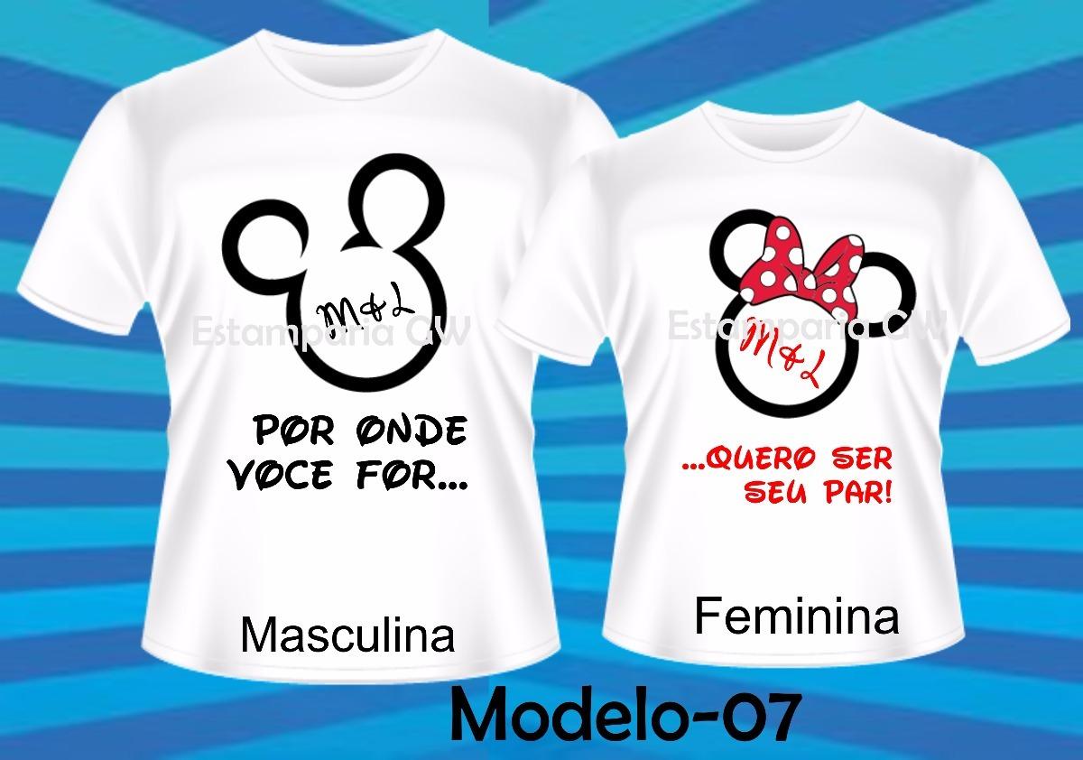 0a33a22be5a17 Kit C 2 Camiseta Personalizada - Casal