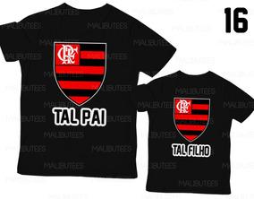 dda3269c75980f Kit C/2 Camisetas Preto Tal Pai Tal Filho Flamengo Ref 16