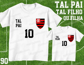 60ee1c4ecf87b8 Kit C/2 Camisetas Tal Pai Tal Filho Time Flamengo Ref 90