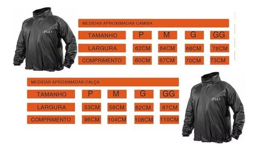 kit c/2 conjunto capa chuva delta motoqueiro (eg) flex