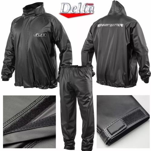 kit c/2 conjunto capa chuva delta motoqueiro p/m/g/gg/egg