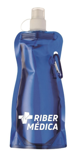 kit c/2 squeeze plástico dobravel 480ml ribermedica