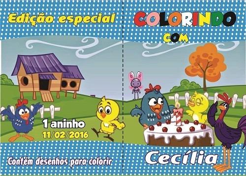 kit c/20  revis de colorir t.10 x 15 + 20 cx de giz persona