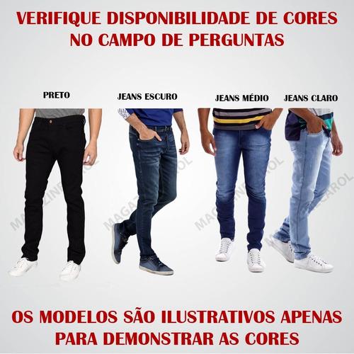 kit c/3 calças jeans skinny masculina envio imediato c/ nf-e