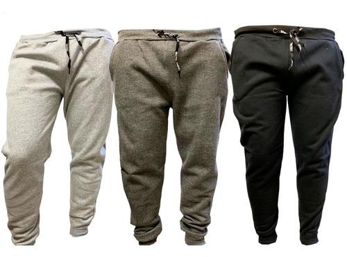kit c/3 calças jogger moletom  skinny academia masculina