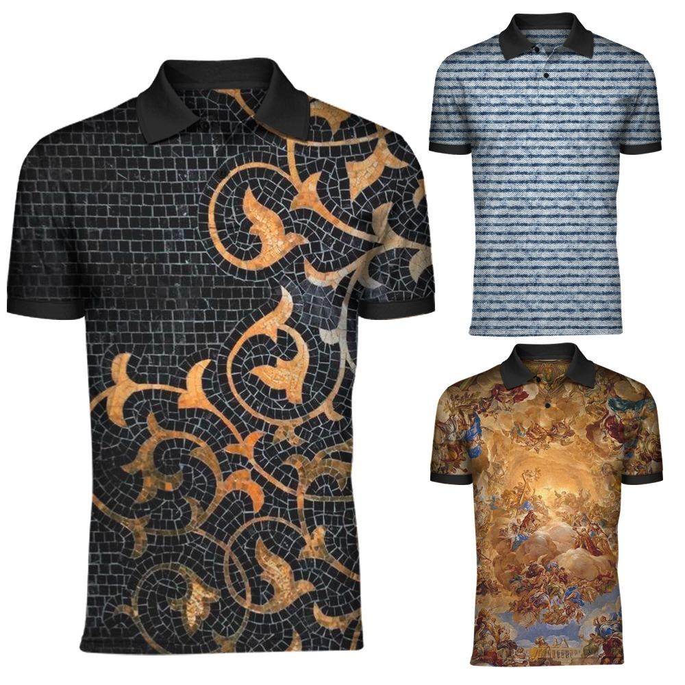 Kit C 3 Camiseta Camisa Gola Polo Esporte Masculina Ky5059 - R  170 ... a2c786282410b