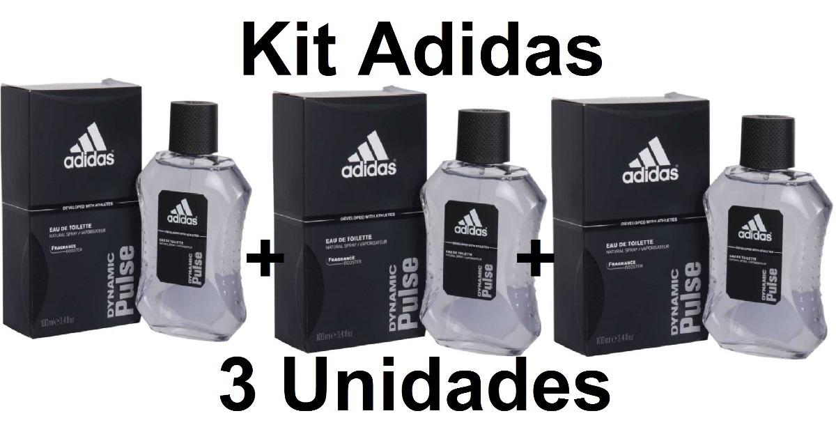 Kit C3 Perfume Adidas Dynamic Pulse 100ml Frete Grátis R 1000