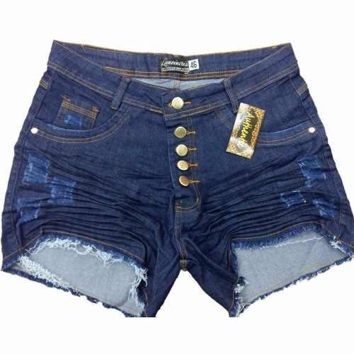 5e089f21b Kit C/3 Short Bermuda Jeans Plus Size Feminino Até 56 Lycra - R$ 159 ...