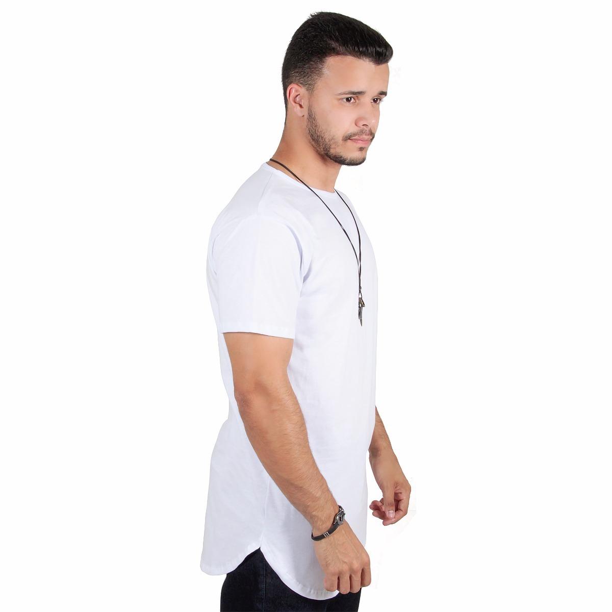 33fc4e23265c4 kit c 3 un camisas blusas masculinas longline oversize swag. Carregando  zoom.