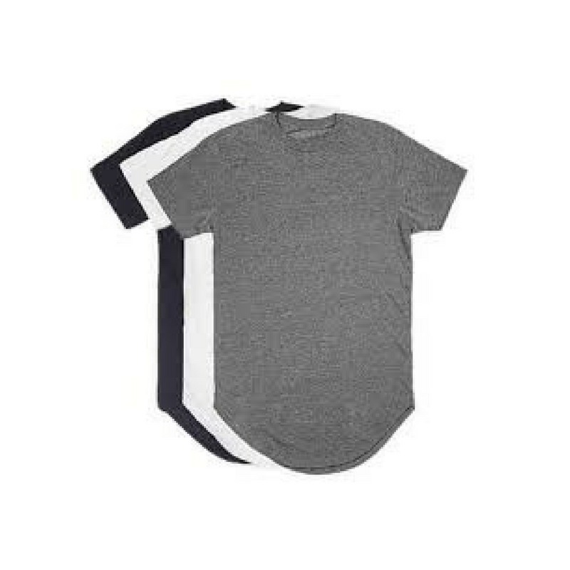 c577647d0 Kit C 3 Un Camisas Blusas Masculinas Longline Oversize Swag - R  55 ...
