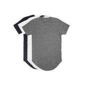 db15108c1 Kit C 3 Un Camisas Blusas Masculinas Longline Oversize Swag
