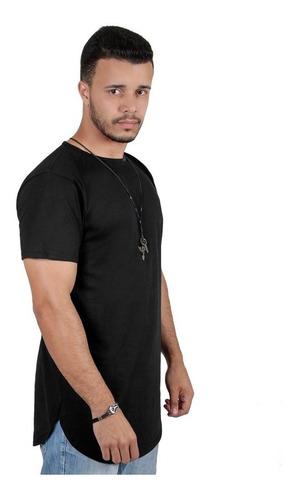 kit c/3 un camisetas longline camisas blusas masculinas