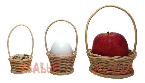 kit c/30 mini cesta palha chapéuzinho fazendinha pintadinha