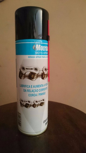 kit c/4 molysil moto spray (melhor que graxa spray) corrente