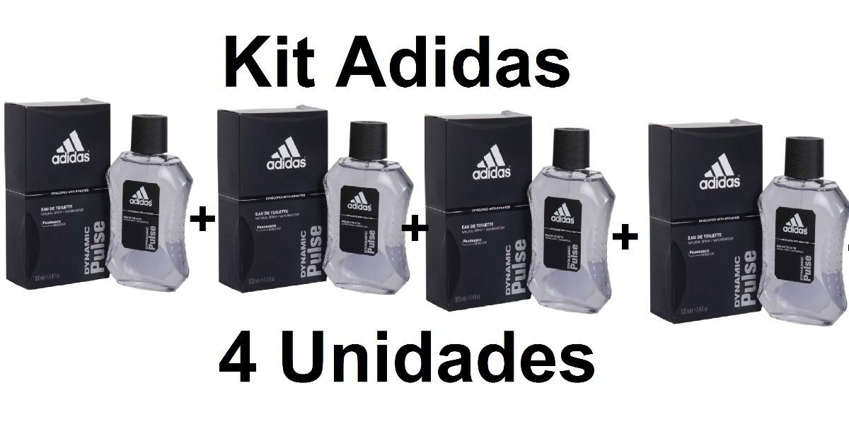 Kit C4 Perfume Adidas Dynamic Pulse 100ml Frete Grátis R 1000