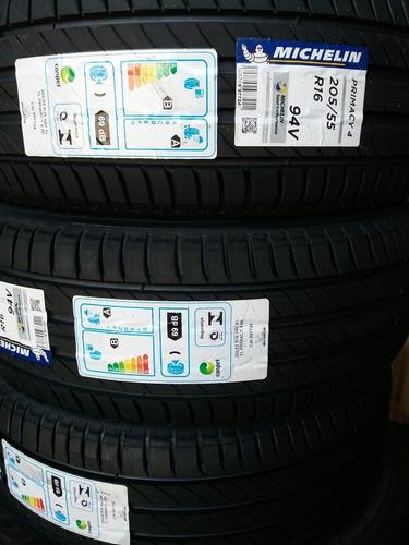 kit c/4 pneus 205/55 r16 michelin primacy4 protetor de borda