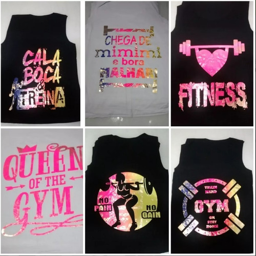 a2647ecbdd Kit C 4 Revenda Regatas Femininas Fitness Academia Atacado - R  53 ...