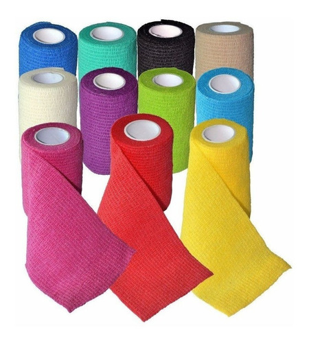 kit c/5 bandagens - ataturas flexível elástica coflex