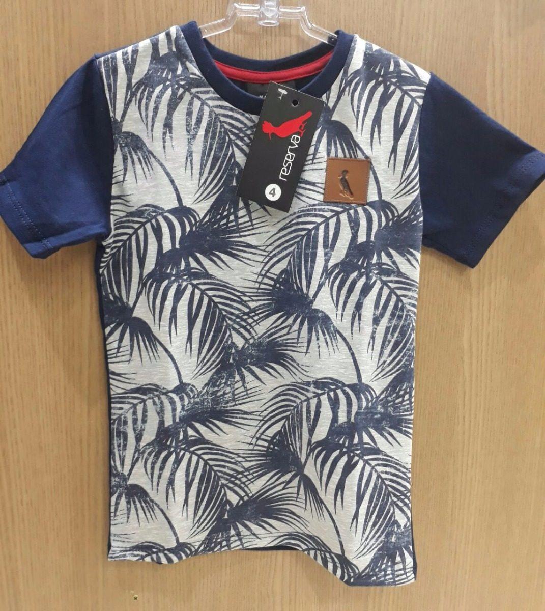2854e68132 Kit C 5 Camiseta Camisa Infantil Floral Marca R.e.s.e.r.v.a - R  120 ...
