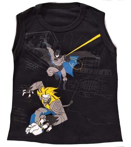 kit c/5 camiseta camisa regata infantil personagens heróis