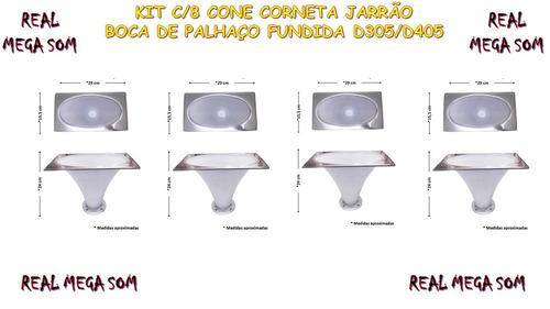 kit c/5 cone/corneta  alumínio fundido boca oval palhaço