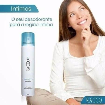 kit c/5 desodorante jato seco feminino íntimo racco 100 ml
