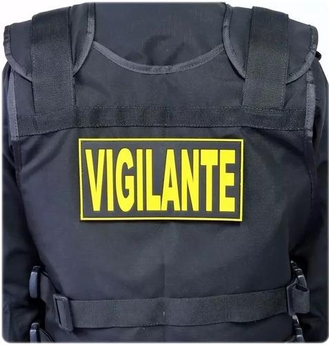 kit c/5 emborrachados p/costas capa de colete vigilante 06